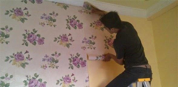 Anti Ribet Cara Memasang Wallpaper Dinding Yang Tepat Sangat Mudah Dhb